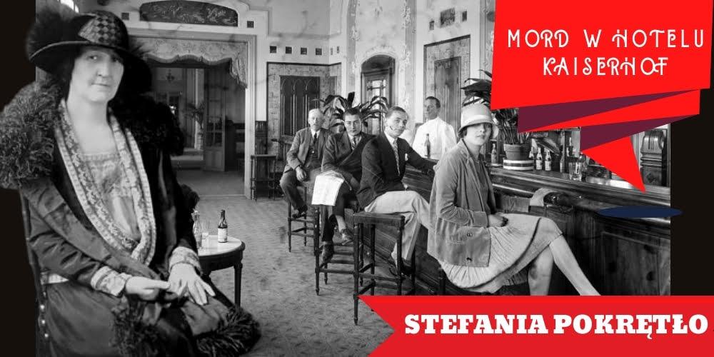 Kobieta wśrednim wieku opisana jako Stefania Pokrętło natle gości whotelowym lobby.